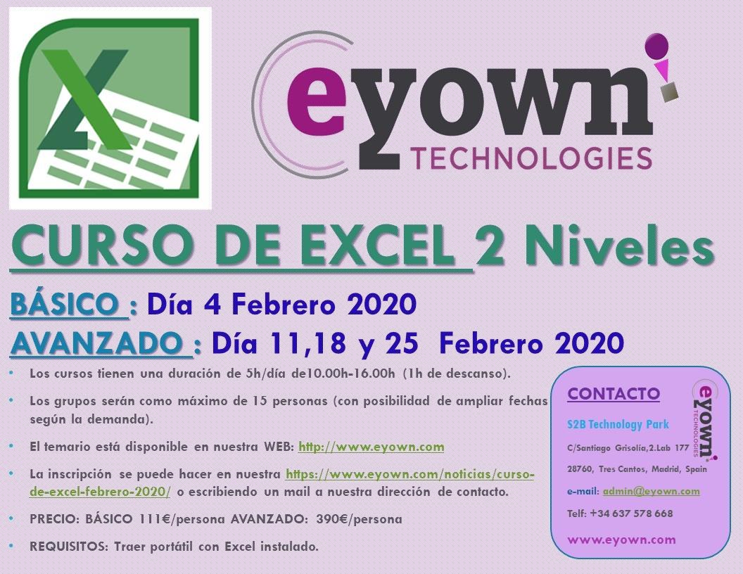 CURSO DE EXCEL: Febrero 2020
